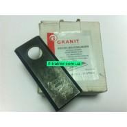Ніж роторної дискової/роторної косарки прямий Granit (25шт.)